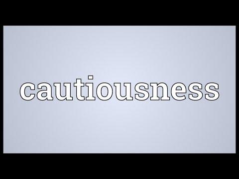 Header of cautiousness