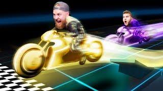 Tron Bike Stunt Racing Battle! | GTA5