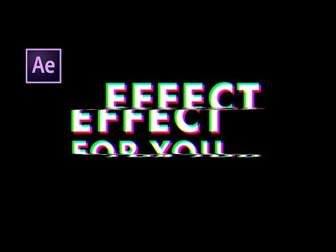 Glitch Effect in After Effects | Adobe After Effects Tutorial | Simple Glitch Text Animation