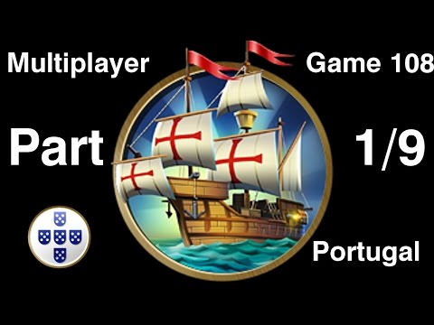 Civilization 5 Multiplayer 108: Portugal [1/9] ( BNW 9 Player Free For All) Gameplay/Commentary