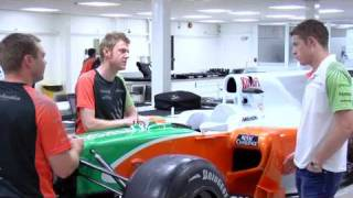 F1 Paul di Resta at the Force India factory