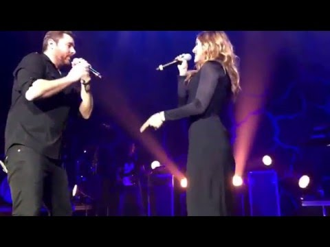 Chris Young and Cassadee Pope singing Think of You at The Midland in Kansas City, MO 2-18-16 LIVE