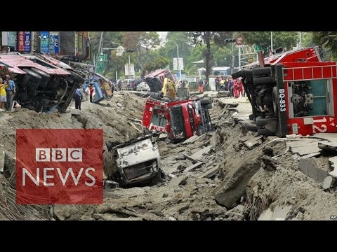 Massive Taiwan gas explosion kills 24 - BBC News