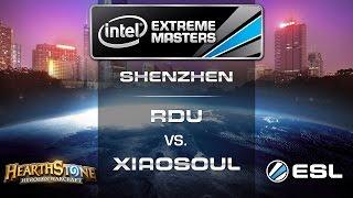 RDU vs. XiaoSoul - Quarterfinals - IEM Shenzhen - Hearthstone