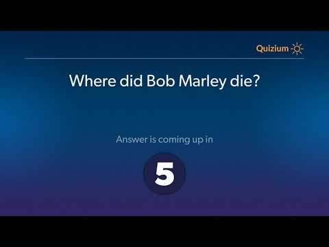 Where did Bob Marley die?   Bob Marley Quiz