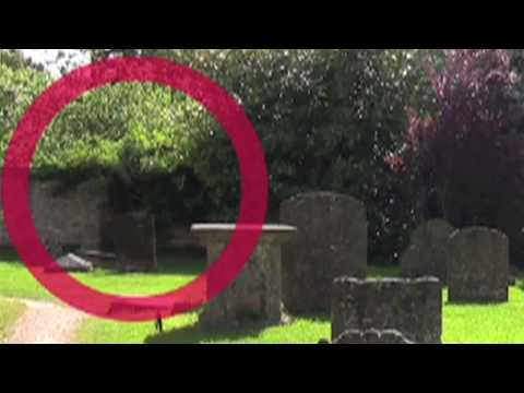 Ghost caught on tape - Lacock England -  in creepy old cemetery 8/21/2009