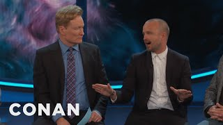 "Aaron Paul Is Afraid His Daughter's First Word Will Be ""Bitch""  - CONAN on TBS"
