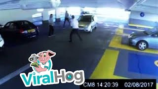 Car Parking Garage Fight Ends in Knock Out