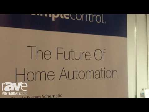 Integrate 2016: AV Supply Group Exhibits simplecontrol, an IP Based Control System for HomeAV