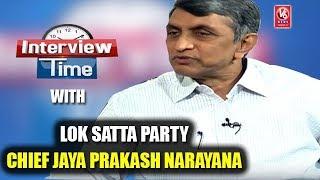 Interview Time With Lok Satta Party Chief Jaya Prakash Narayana | V6 News