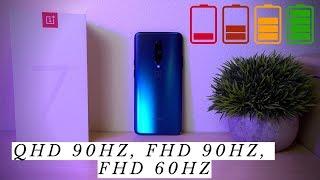 OnePlus 7 Pro Battery Test! QHD 90hz, FHD 90hz, FHD 60hz