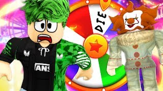 Spinning the wheel of DOOM! Roblox Circus Story!