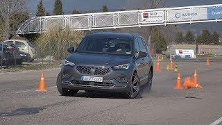 SEAT Tarraco 2019 - Maniobra de esquiva (moose test) y eslalon | km77.com