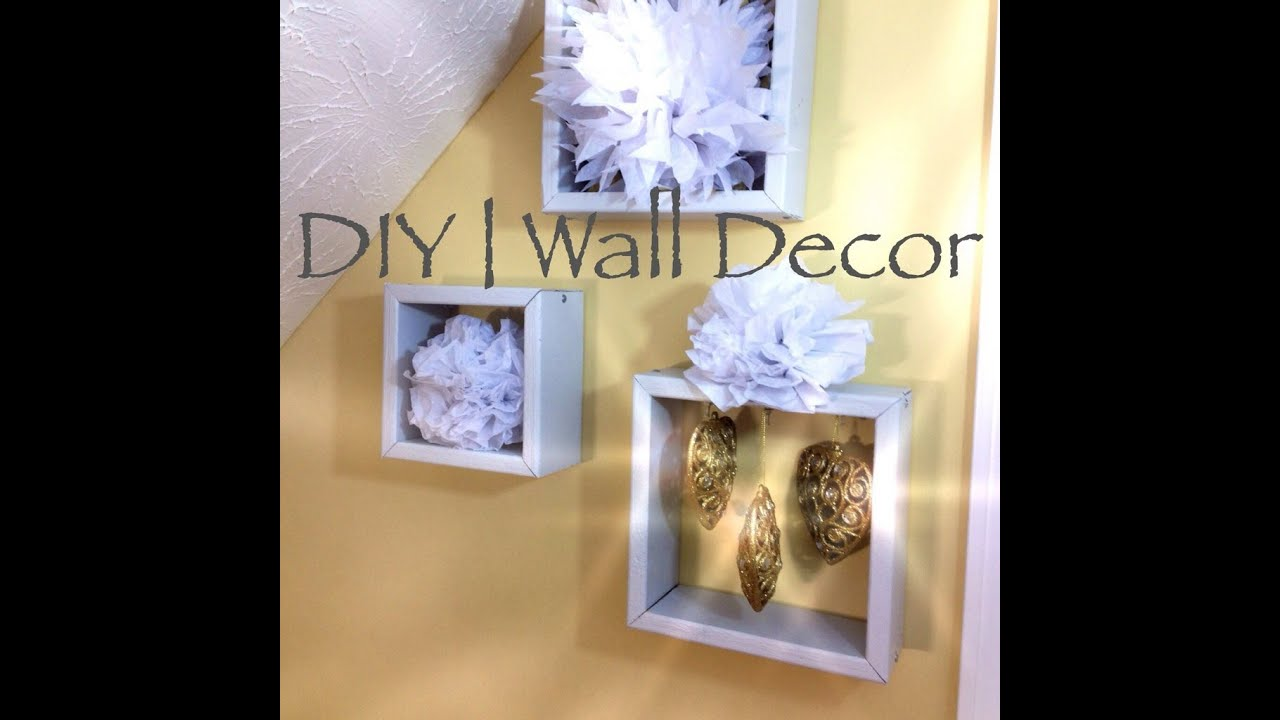 Diy recycled wall decor youtube for Wall decoration ideas with photos
