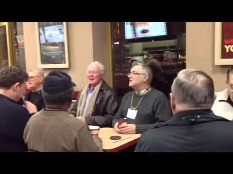 Old men singing at Tim Horton's