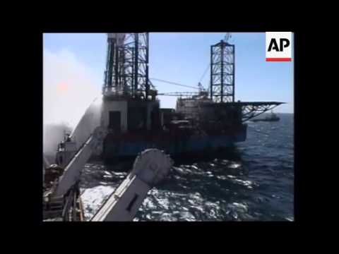INDIA: FIRE BREAKS OUT ON MID SEA GAS WELL