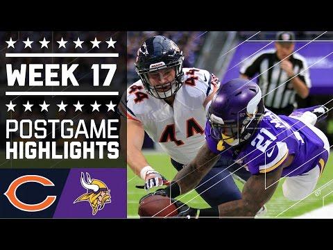 Bears Vs Vikings Nfl Week 17 Game Highlights