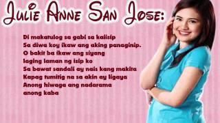 Julie Anne San Jose: Kaba | Lyrics