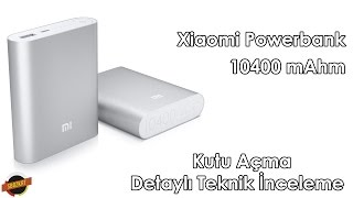 Xiaomi Powerbank 10400 mAhm Kutu açılımı ve İnceleme / Unboxing and Review