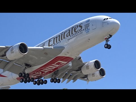 Emirates Airbus A380-800 [A6-EOD] landing at Los Angeles (LAX/KLAX)