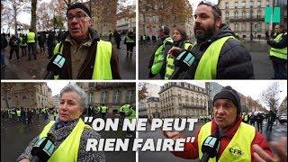 Les gilets jaunes déçus de ne pas avoir pu manifester sur les Champs-Élysées