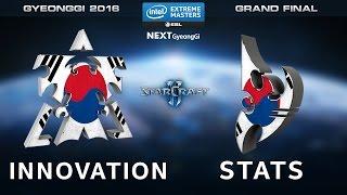 Starcraft 2 - INnoVation vs. Stats [TvP] - Grand Final - Map 1 - IEM Gyeonggi