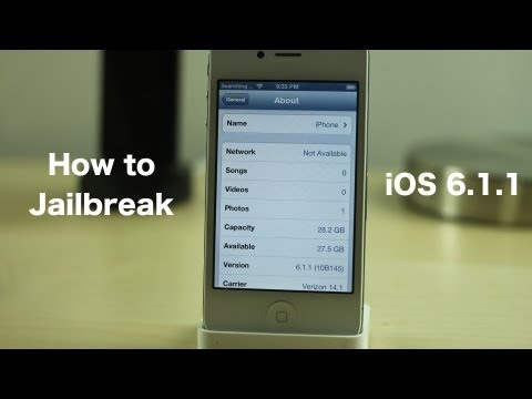 How to jailbreak iOS 6.1.1 untethered with evasi0n