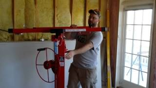 Harbor Freight drywall lift hoist 69377 Tool unboxing and review