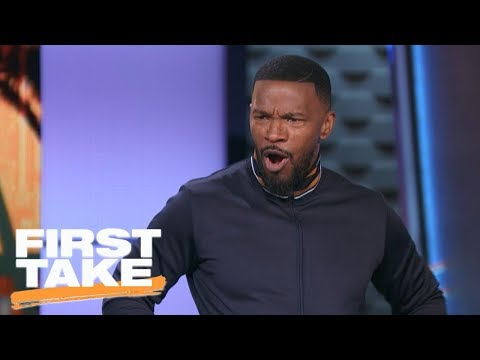 Jamie Foxx impersonates LeBron James, thinks Cavaliers will sweep NBA Finals | First Take | ESPN