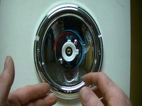 How to repair/replace a leaky moen cartridge on a single lever tub/shower faucet and adjust temp.