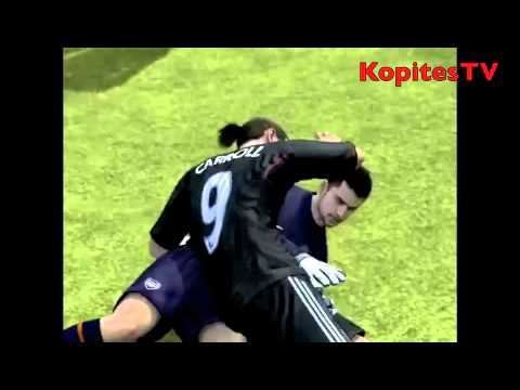 Andy Carroll kisses Lukasz Fabianski Fifa12 Glitch