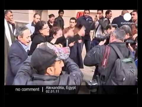 Coptic protest in Egypt - no comment