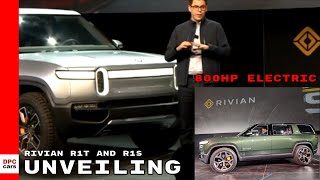 Rivian R1T Electric Pickup Truck and R1S SUV Unveiling