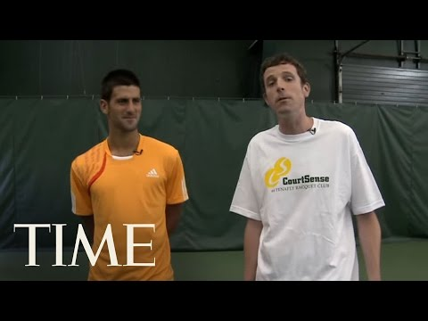 Novak Djokovic's John McEnroe Impression & Free Tennis Lessons | TIME