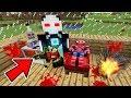 KORKUNÇ CANAVAR ROBOT ÖRÜMCEK ADAM'A SALDIRDI - Minecraft