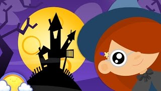 Five Little Witches | Halloween Nursery Rhymes for Children | CheeriToons