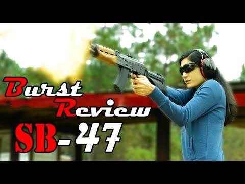 SB Tactical SB-47 AK Pistol Brace Review - Burst Review! - PAP M92 & Micro Draco