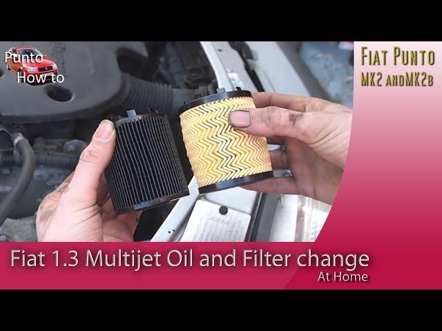 Fiat 1.3 Multijet Diesel Engine Oil Change - YouTube