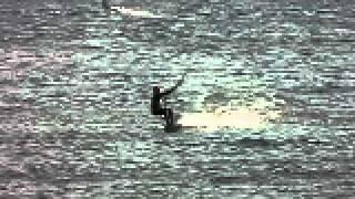 me kitsurfing