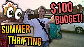 $100 Summer Clothing Thrift Shopping!! (Cool Finds!)