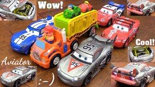 Disney Cars Lightning McQueen Artist Series Diecast, Aviator McQueen. Car Carrier Truck Toy Playtime
