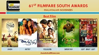 61st Filmfare (South) Awards 2014 - Watch Full List of Malayalam Nominees