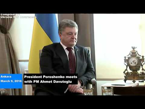 Ukrainian-Turkish Alliance? Poroshenko meets Erdogan & PM Davutoglu, UA Ship gets Arms next day