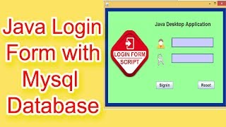 Login Form in Java Using Netbeans and Mysql Database