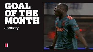 Brobbey: 'Deze is voor de ploeg' | GOAL OF THE MONTH JANUARY