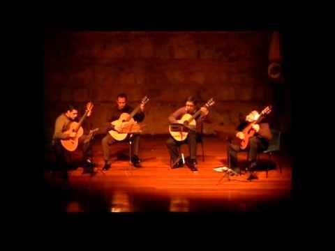 Sonatina para quarteto de guitarras- Juan Diego Gomez (plays ContrastesGuitarQuartet)