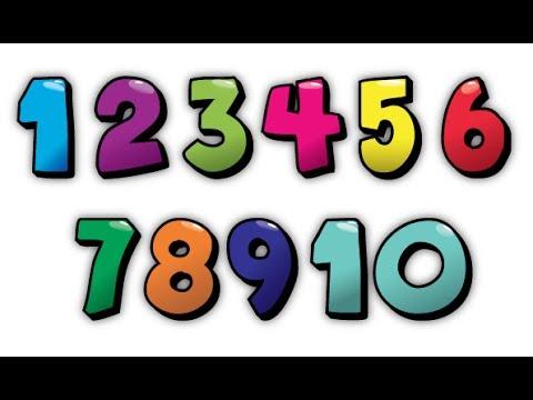 Обучающее видео детям. Учим цифры от 1 до 10. Learn numbers in Russian.