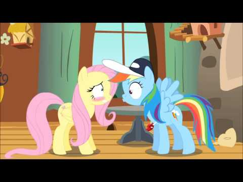 Rainbow dash fluttershy kiss wedding