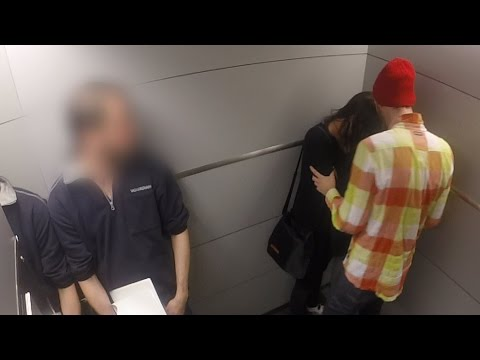 Abused in the elevator!