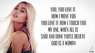 God is a woman lyrics video (Ariana Grande)
